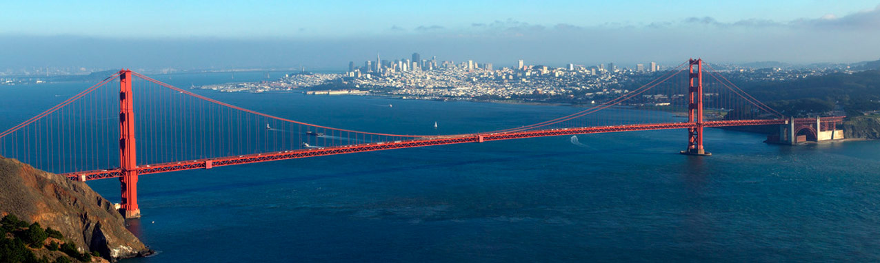 View of the Golden Gate Bridge and San Francisco